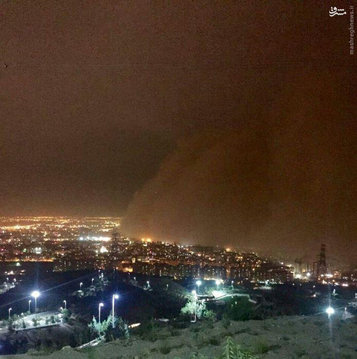 عکس/ طوفان شدید در تهران