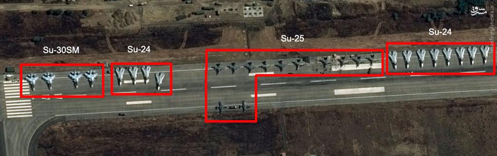 عکس/ حضور 12 فروند سوخو 24 روس در سوریه