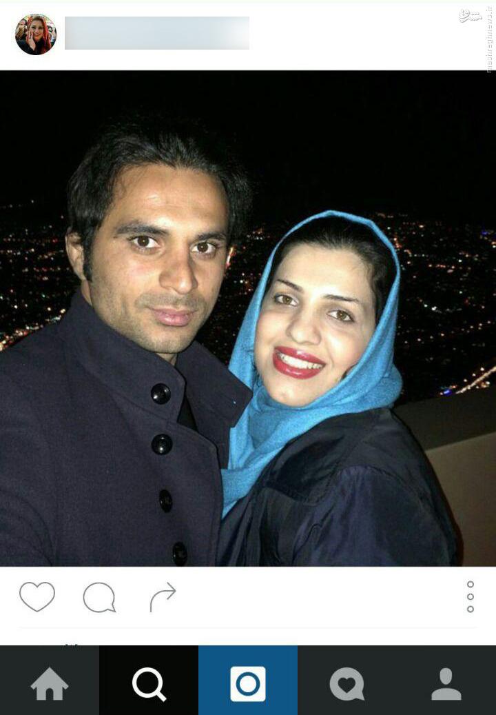 عکس سلفی هادی نوروزی با همسرش