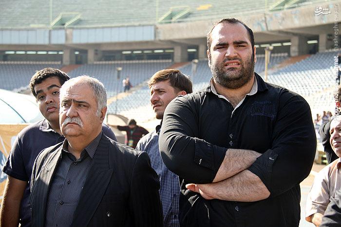 عکس/ قوی ترین مرد دنیا در تشییع هادی نوروزی