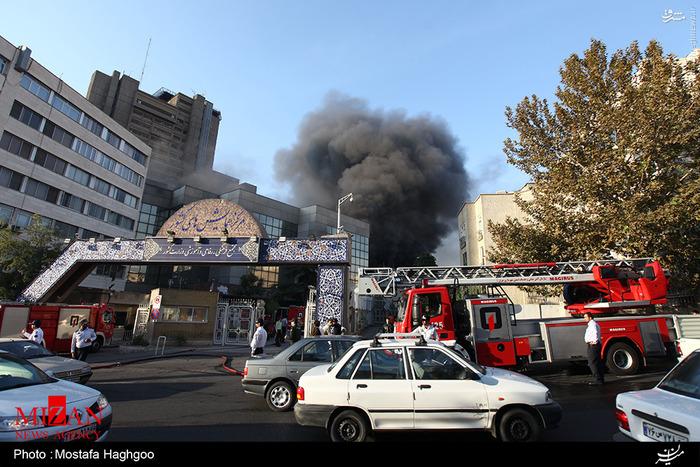 آتش سوزی گسترده در ساختمان وزارت کشور +عکس