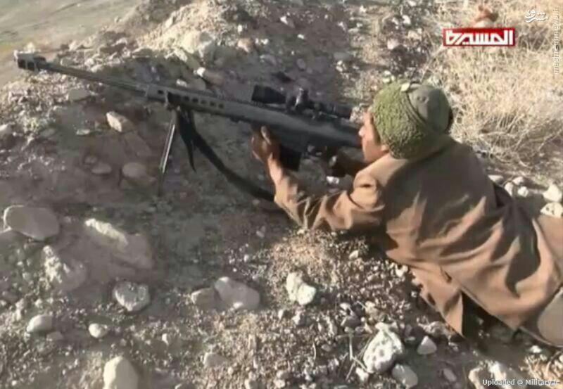 عکس/ سلاح تک تیرانداز آمریکایی در دست حوثی ها