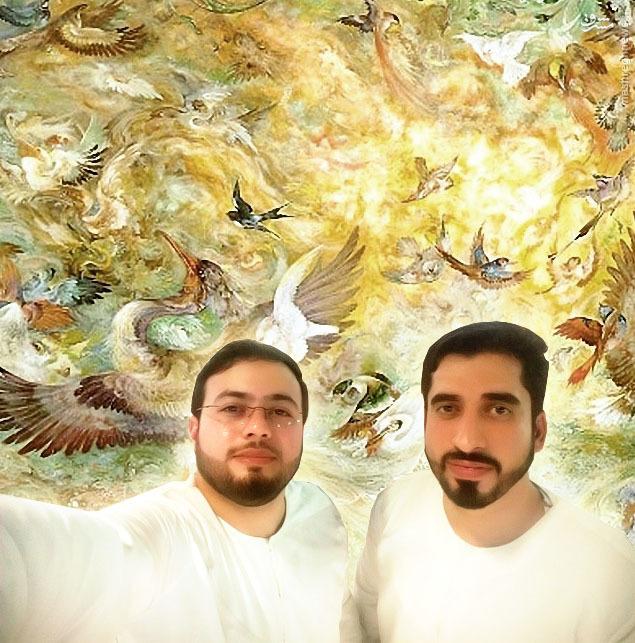 عکس/ سلفی دو مهاجر الی الله در بهشت
