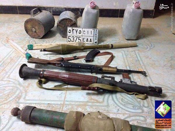 کشف خانه تیمی تروریستهای داعش در غرب سامراء+تصاویر