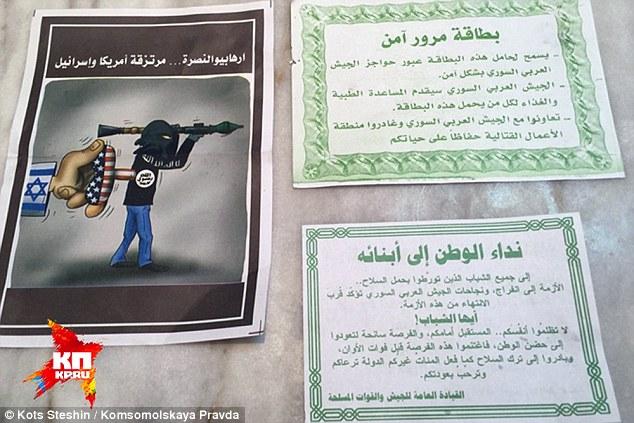 عملیا روانی روسیه علیه داعش با ریختن اعلامیه /// در حال ویرایش
