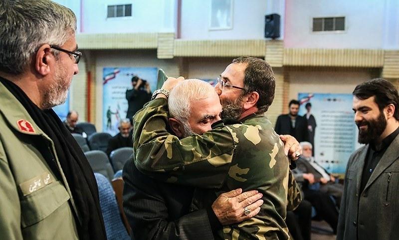 بوسه«سردار باقرزاده» بر پیشانی «سردار همدانی»+عکس