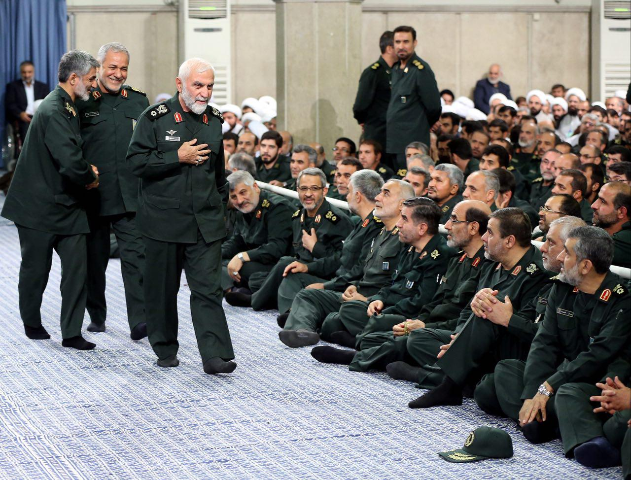 عکس/ سردار همدانی در دیدار فرماندهان سپاه با رهبرانقلاب
