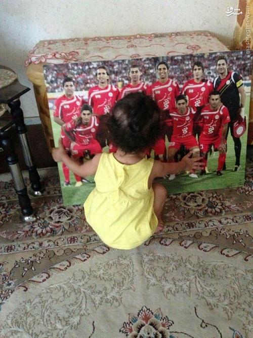 عکس/ هانا نوروزی در فراق پدر