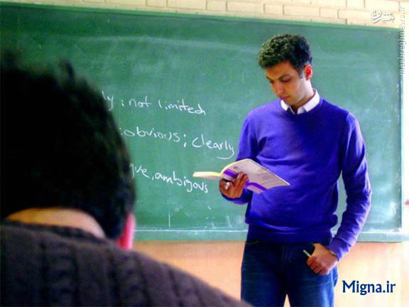 عکس/ عادل فردوسی پور در حال تدرسی