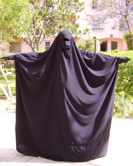 برقع حجاب الزامی در مناطق تحت اشغال القاعده+تصاویر