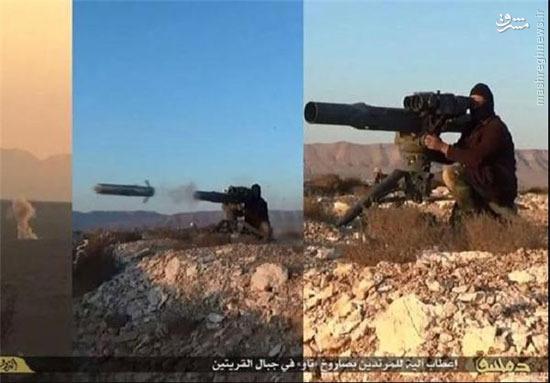 کشف موشکهای ضدر زره آکبند آمریکا برای داعش!+تصویر