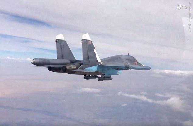 تصاویر/ پرتاب دقیق ترین بمب های روسیه بر داعش