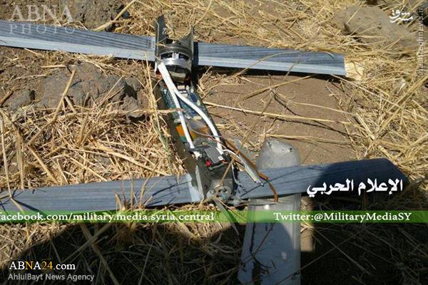 شکار دو پهپاد به دست نیروهای ارتش سوریه+عکس