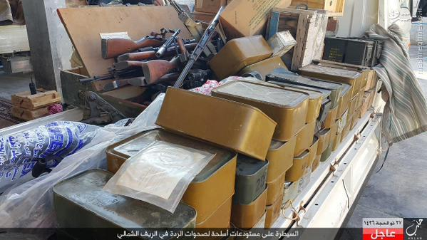 غنائم داعش از نبرد با گروههای رقیب در شمال حلب+تصاویر