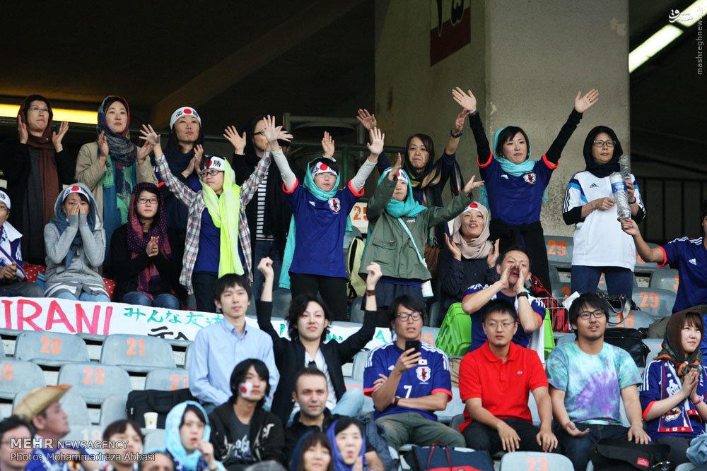 عکس/ حجاب دختران ژاپنی در ورزشگاهآزادی