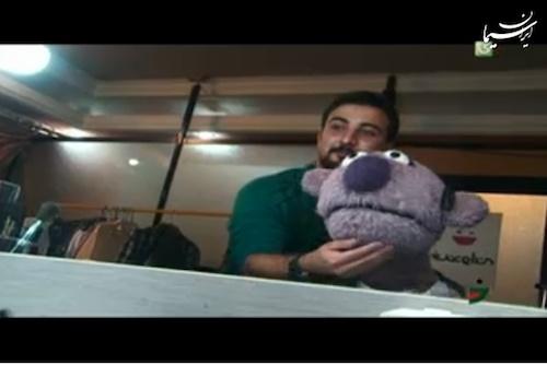 تصاویری از جناب خان در اتاق گریم «خندوانه»