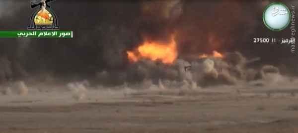 انهدام انتحاری داعش توسط حزب الله عراق+عکس و فیلم
