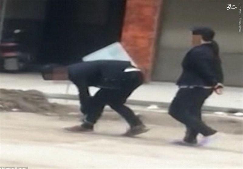 تنبیه تحقیرآمیز یک مادر چینی برای فرزند تنبل +تصاویر
