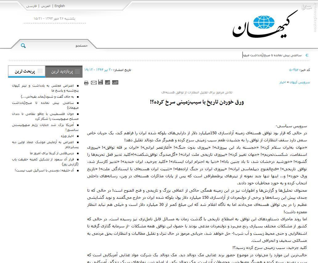 ثبت مکدونالد در ایران