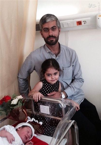 عکس/ فرزندان شهید مدافع حرم نادر حمید