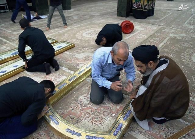 انتقال درب های حرم امامین عسکریین(ع) به سامراء + عکس