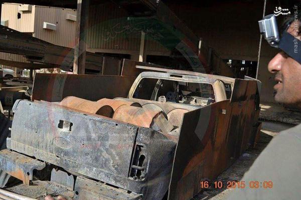 کشف کارگاه تجهیز خودروهای انتحاری داعش در بیجی+تصاویر