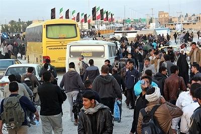 سپاه پاسداران انقلاب اسلامی ایران 700 اتوبوس در مهران مستقر کرد