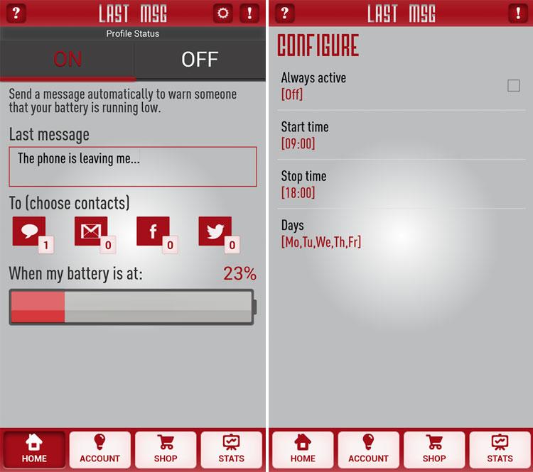 نرمافزار ارسالخودکار پیامکقبلاز اتمامباتری+دانلود
