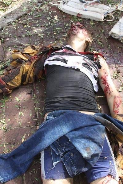 لحظه هلاکت عامل انتحاری در بغداد+تصاویر