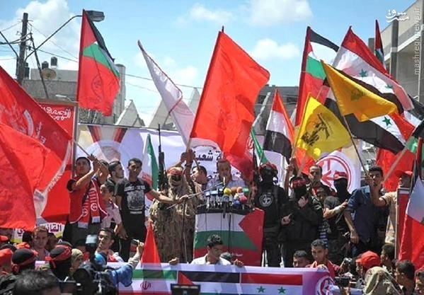 تظاهرات حمایت از محور مقاومت در کرانه باختری+تصاویر