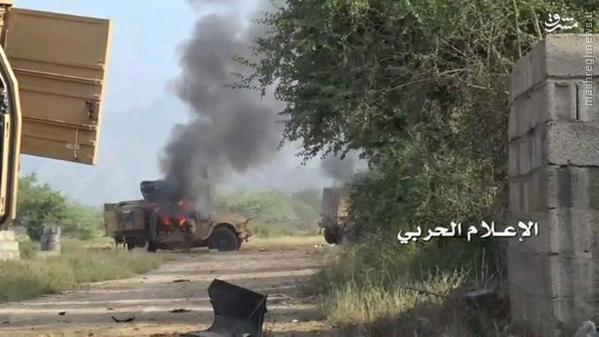 انهدام دهها زرهی ارتش آل سعود در جیزان+تصاویر