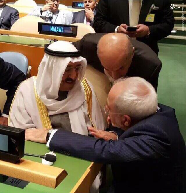 عکس/ رایزنی ظریف و امیر کویت در مورد فاجعه منا