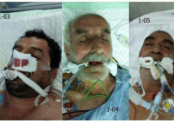 6 نفر از مجروحین ایرانی مجهول الهویه +عکس