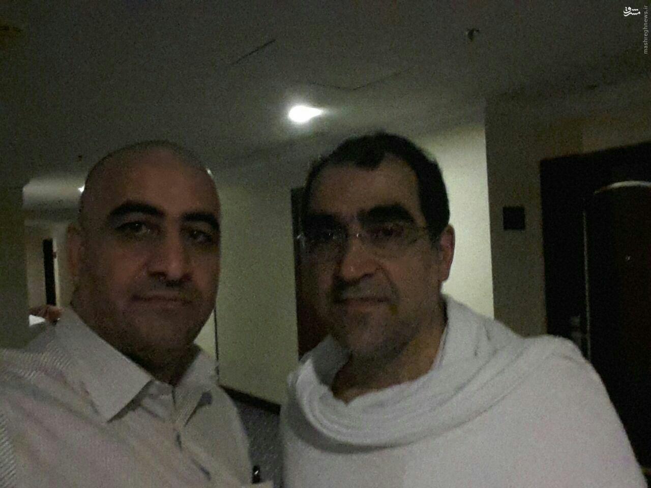 وزیر بهداشت برای اعمال حج عمره حاضر شد +عکس