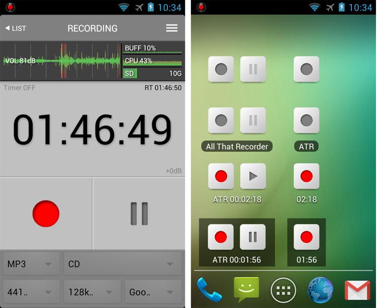 ضبط حرفهای صدا با اپلیکیشن All That Recorder