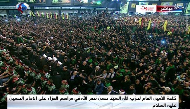 حضور سید حسن نصرالله در جمع عزاداران بیروت