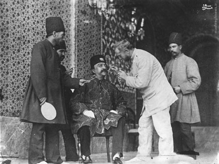 دندانپزشک ناصرالدین شاه قاجار/عکس