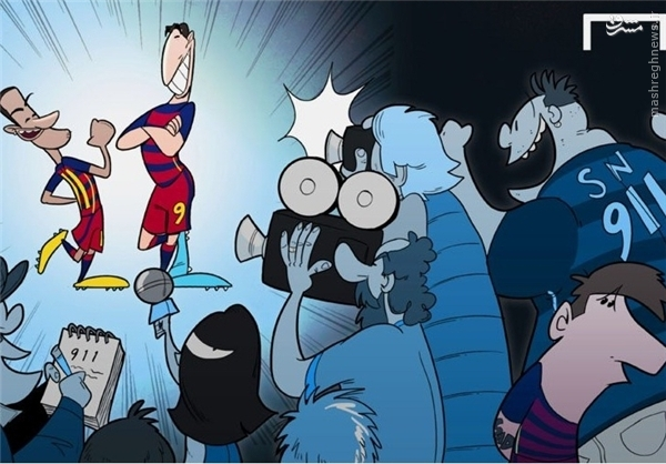 بیتوجهی رسانهها به مسی پس از درخشش نیمار و سوارز+کاریکاتور