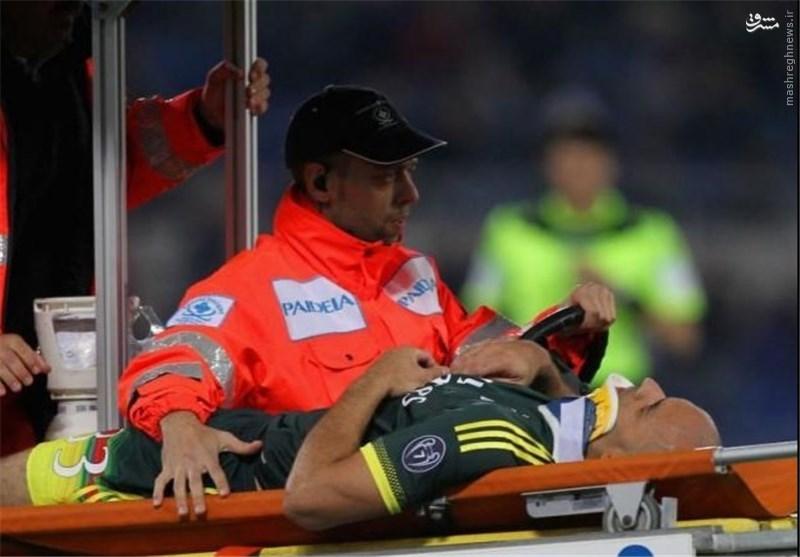 بازیکن میلان ضربه مغزی شد +عکس