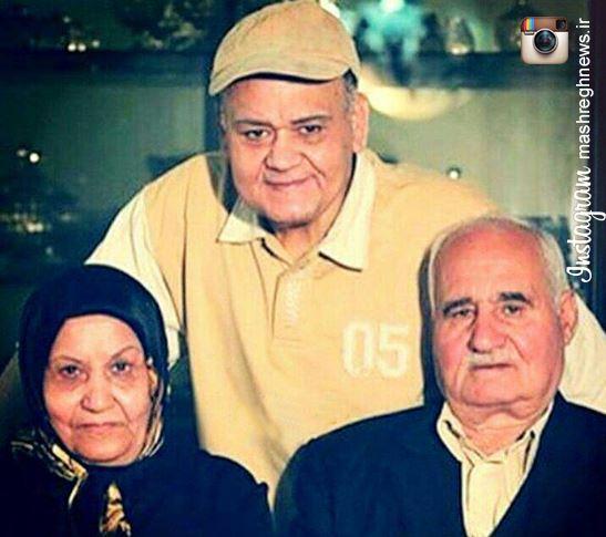 عکس/ اکبر عبدی در کنار خانواده