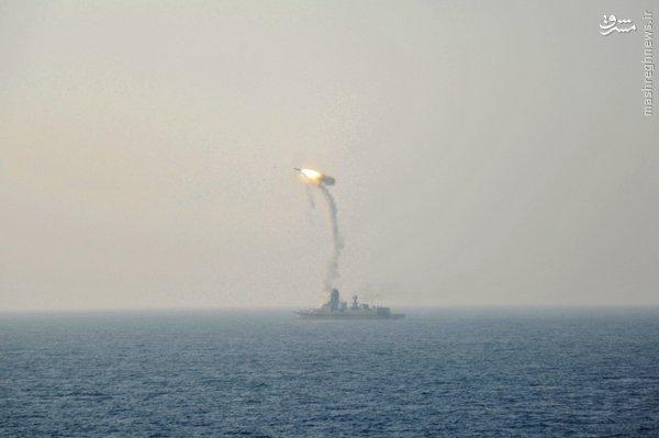 عکس/ آزمایش موشکی نیروی دریایی هند