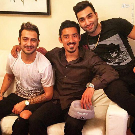 عکس/ قوچان نژاد در کنار خواننده رپ