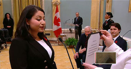 بانوی افغانتبار در کانادا وزیر شد +عکس