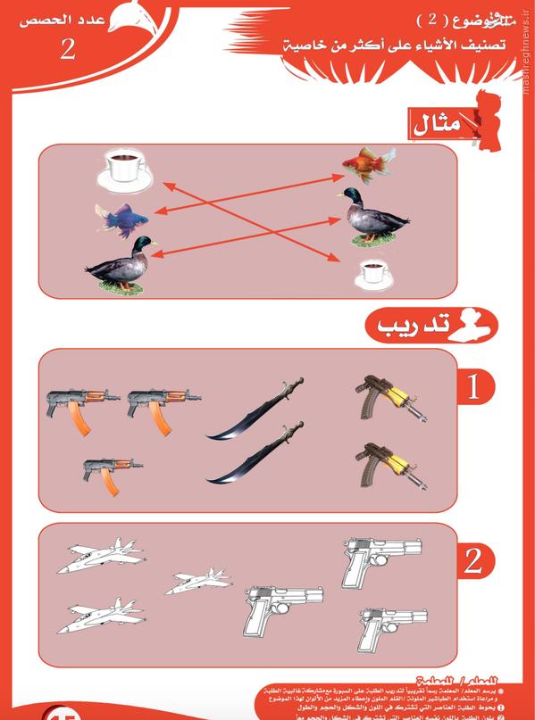 کتب درسی داعش در مناطق تحت اشغال+تصاویر