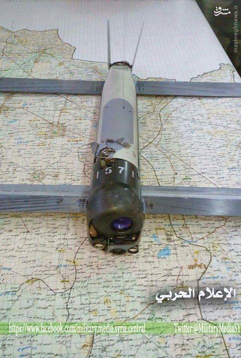سقوط پهپاد آمریکایی در جنوب سوریه+تصاویر
