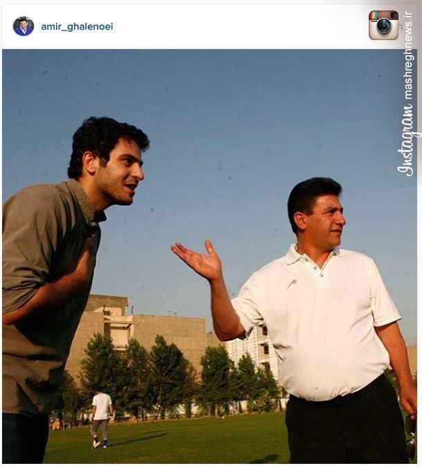 عکس/ توصیه اینستاگرامی قلعه نوعی به هواداران استقلال درمورد علی ضیاء