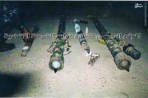 کشف موشکهای پدافند هوایی ارتش داعش+تصاویر