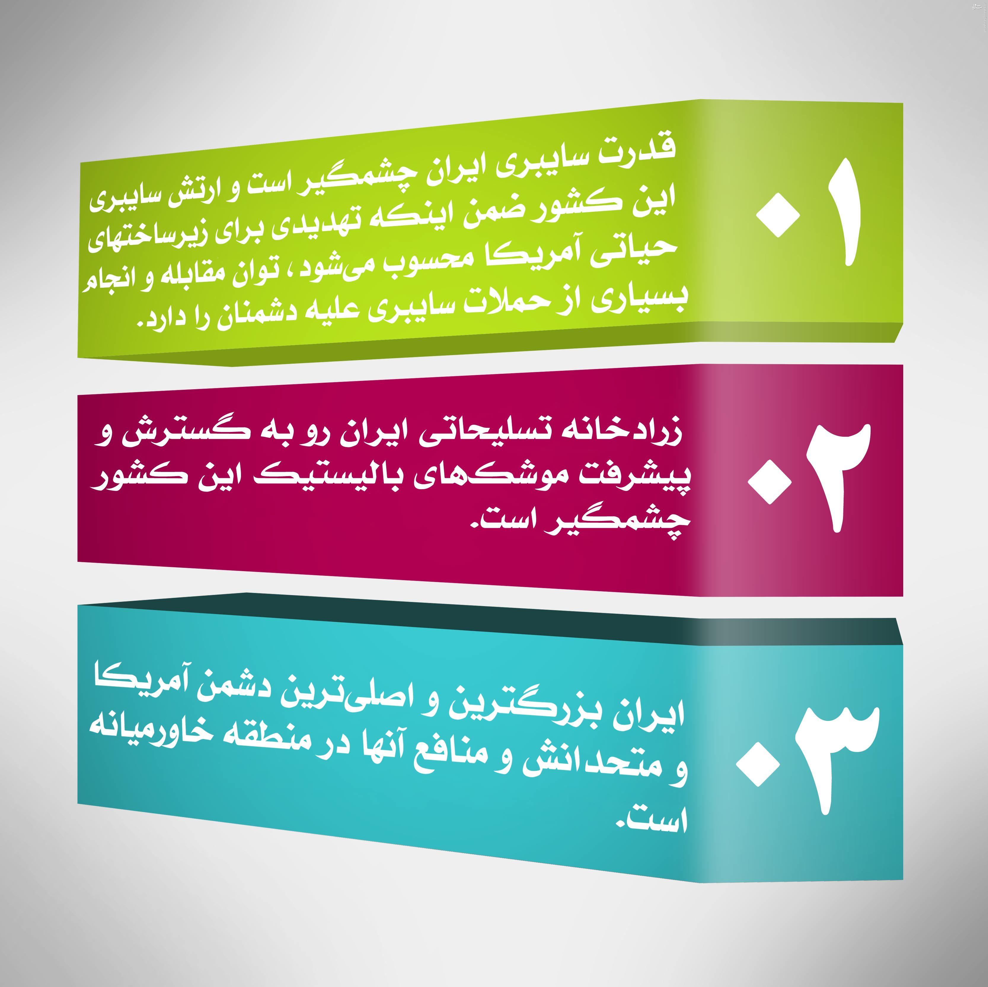 ایران پسا توافق خطر بزرگی برای آمریکا است / توافق هستهای راه تبدیل شدن ایران به قدرت منطقه را باز کرد /// آماده جهت ملاحظه ///