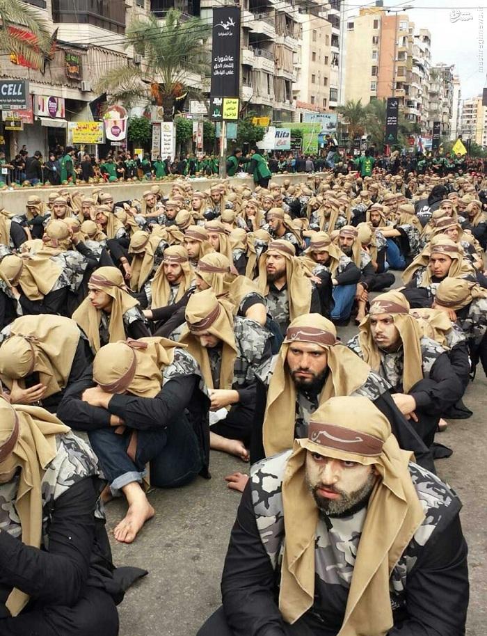 استقرار گسترده نیروهای امنیتی حزب الله در بیروت+تصاویر