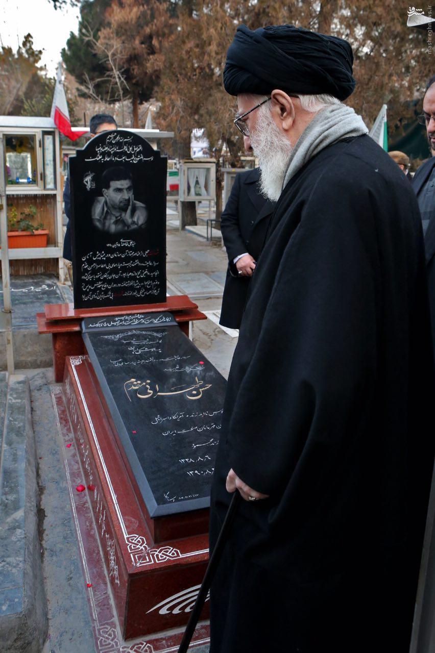 عکس/ حضور رهبر انقلاب بر مزار شهید طهرانی مقدم